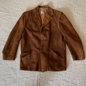 Vintage Adastra brown suede leather jacket size L